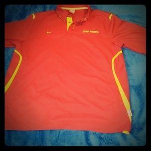 Nike dry fit collar shirt Iowa State size L